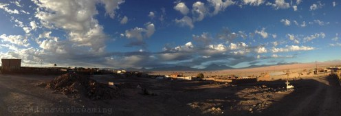Vue sur la chaine de montagnes séparant le Chili et l'Argentine