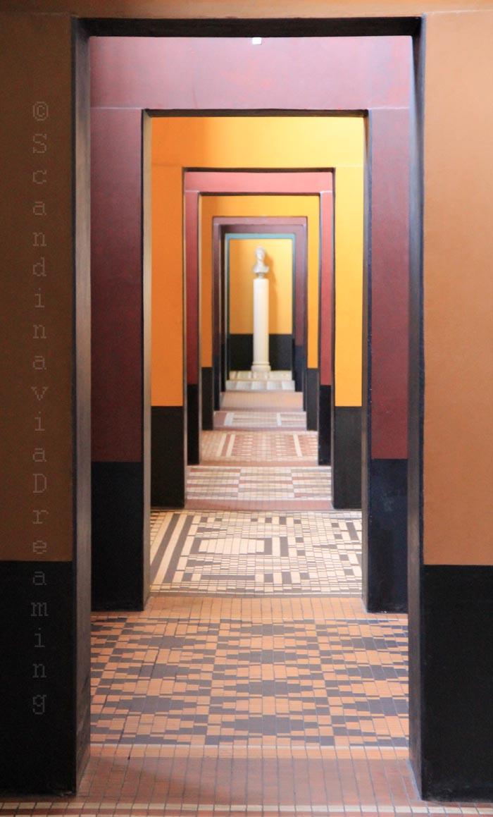Enfilade de salles du musée Thorvaldsen à Copenhague