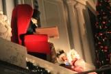 Façade de l'hôtel d'Angleterre décorée pour Noël
