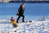 Amager strandpark - Les joies de la neige
