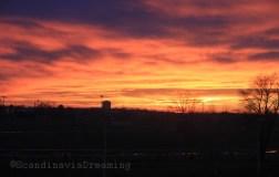 Coucher de soleil flamboyant sur Zagreb, Arena