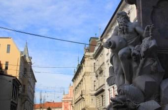 Fontaine à l'italienne du centre de Ljubljana