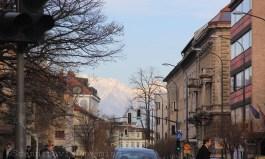 Les Alpes en toile de fond à Ljubljana