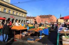 Marché en plein air de Zagreb