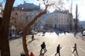 Place Pleseren au centre de Ljubljana