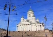 Cathédrale d'Helsinki sous le soleil