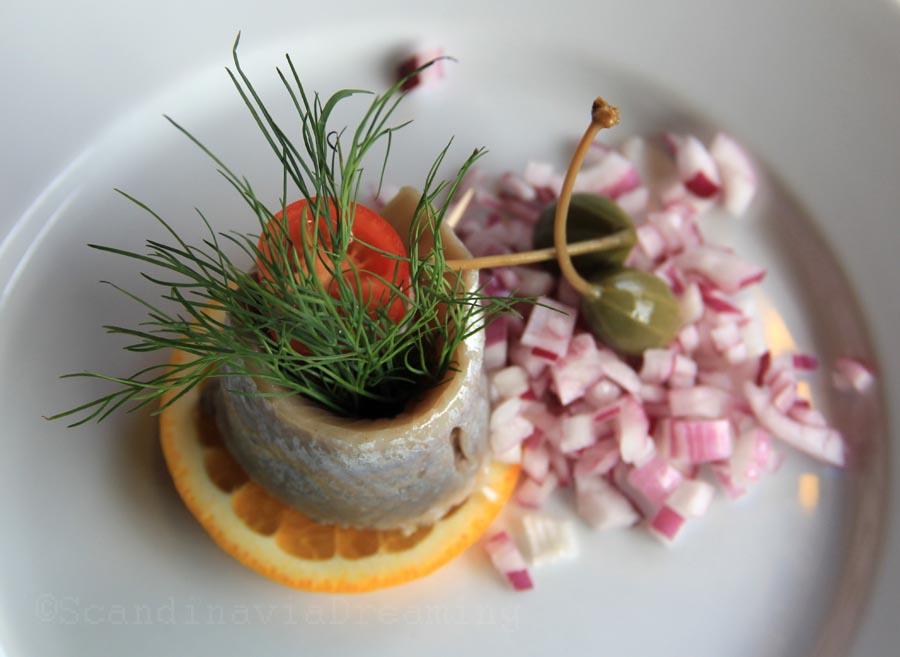 Julesild, hareng cru aux épices de Noël