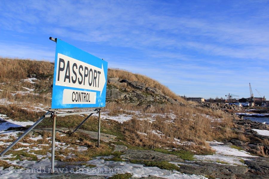 Passeport checkpoint Suomenlinna