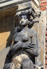 Atlante à l'entrée du château de Frederiksborg