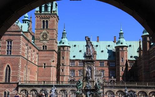 Cour centrale du de Frederiksborg à Hilleroed