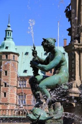 Détail de la fontaine de Frederiksborg