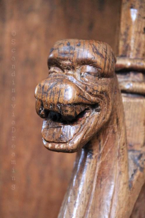 Détail d'une stalle du choeur de la cathédrale de Roskilde