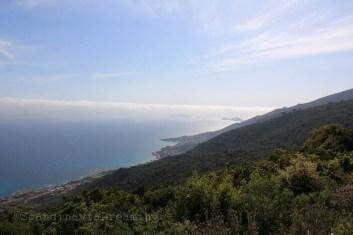Les îles Sanguinaires vues du sentier des crêtes