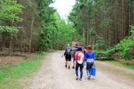International hiking team