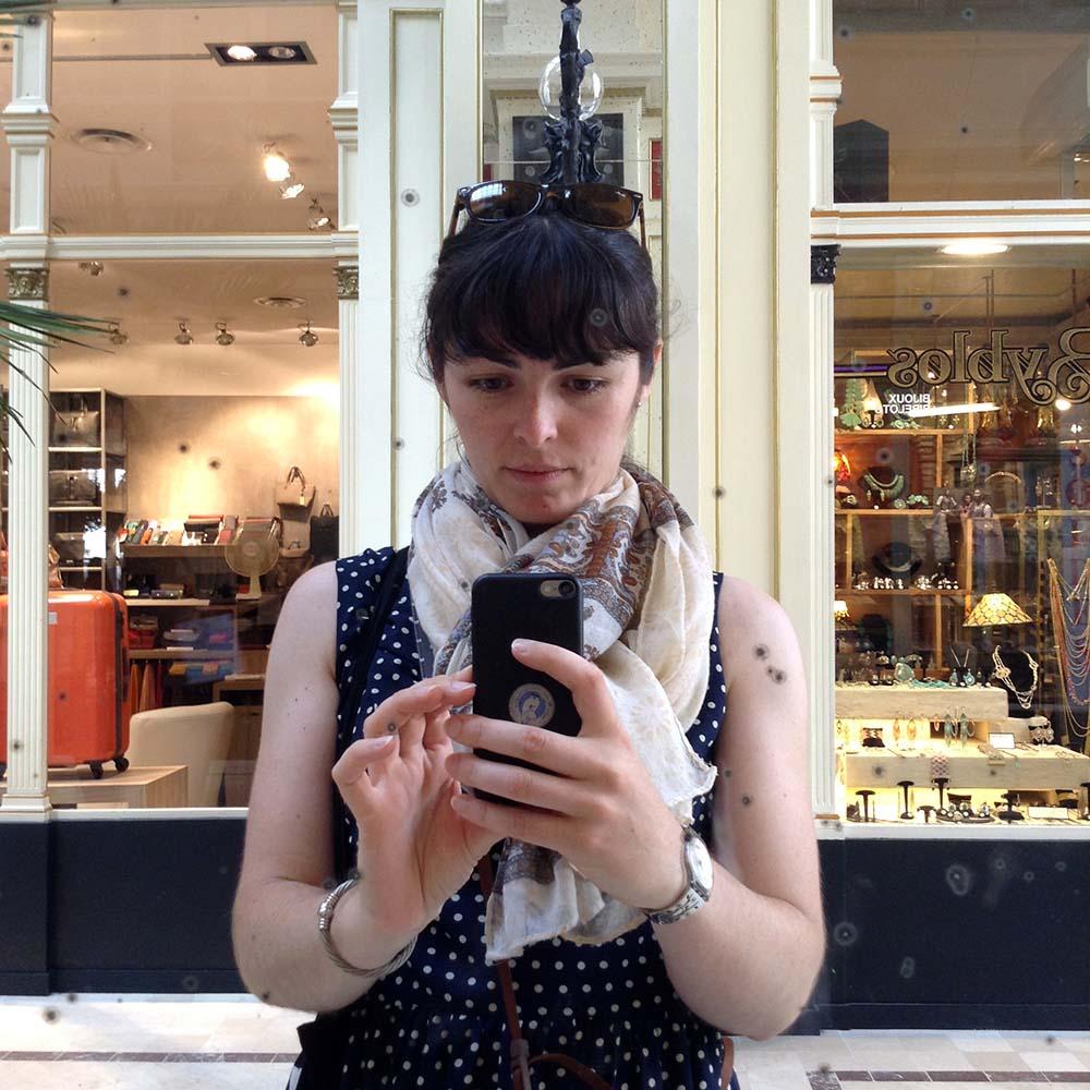 Selfie au passage Pommeraye