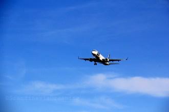 Avion se préparant à atterrir