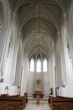 Nef de l'église abbatiale de Scourmont, région de Chimay en Wallonie