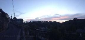 Panoramique de Chimay au coucher de soleil