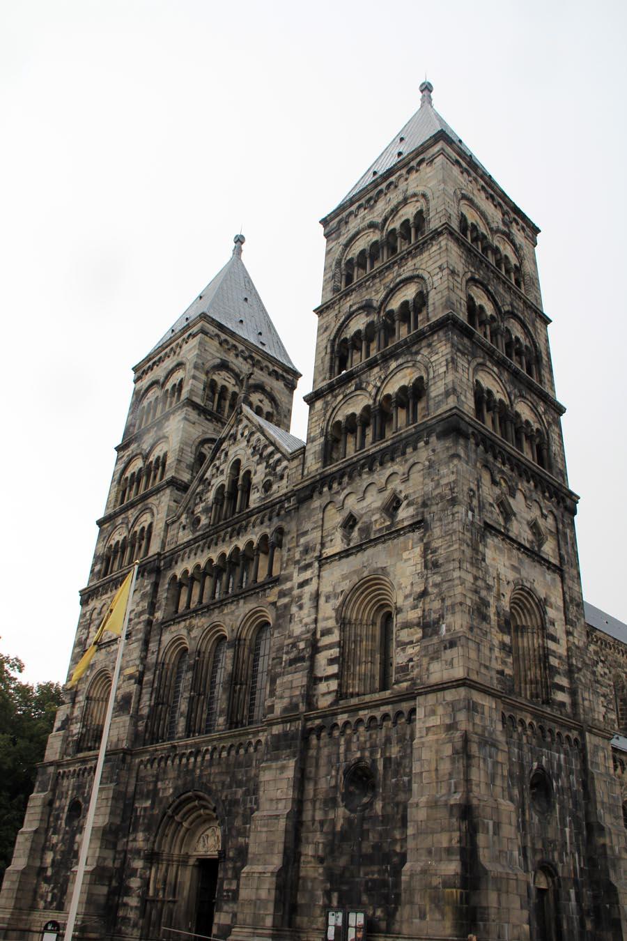 Façade de la cathédrale de Lund