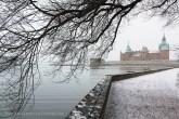 Château de Kalmar sous la neigev