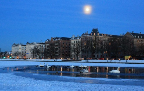 Lac au clair de lune