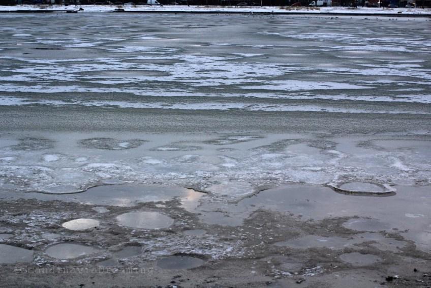 Plage glacée
