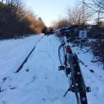 Vélo dans la neige