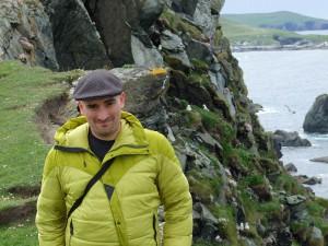 Adam at Fethaland 2, Shetland, Summer 2013