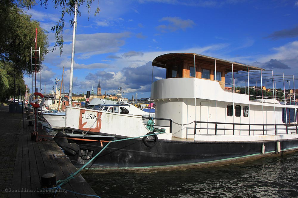 Bateau quais Stockholm