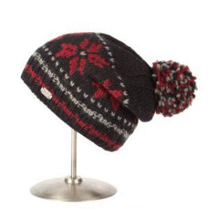 pk1425-black-red-moss-yarn-floppy-beret-snowflake-320x320
