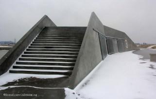 Bunker sous la neige