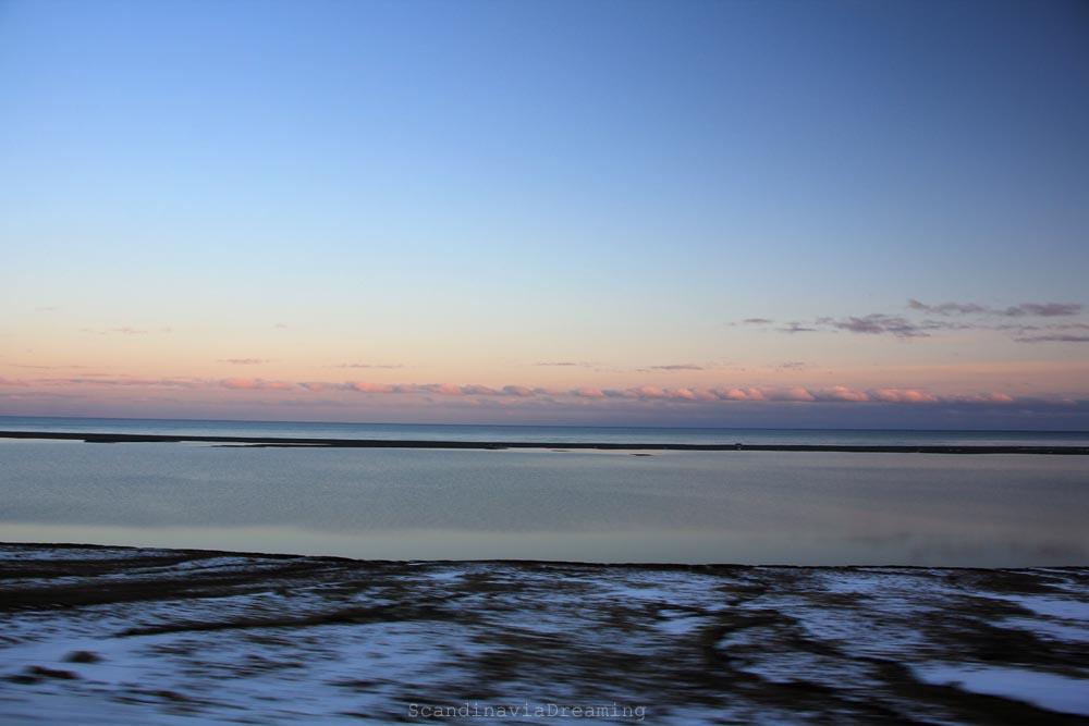 Coucher de soleil Islande