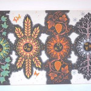 Toile peinte vintage d'après Lurçat