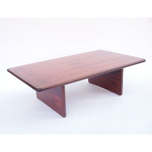 Grande table basse Palissandre de Rio, Danemark années 50