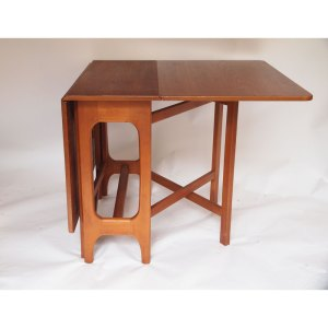 Table de salle à manger pliante rectangulaire, à abattants vintage scandinave