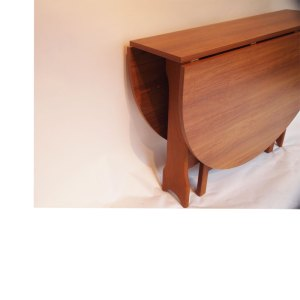 Table de salle à manger à abattants vintage scandinave, pliante, console #2