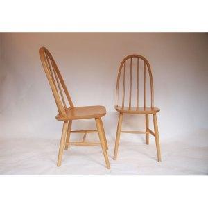 SOLDE – Paire de chaises style Ercol, vintage 60 70