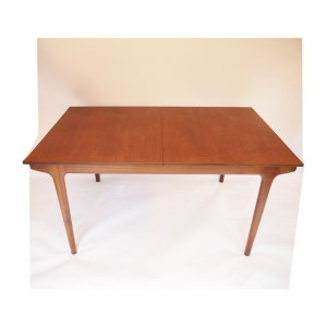 Table de salle à manger McIntosh, double allonge « papillon », vintage scandinave