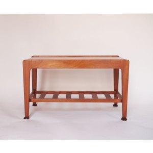 Petite table basse scandinave vintage double plateau #12