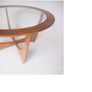 Table basse ronde Astro scandinave vintage 60