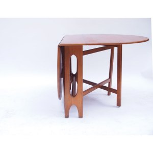 Table console à 2 rabats vintage scandinave