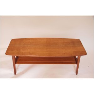 Table basse vintage scandinave pieds compas