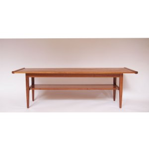 Table basse scandinave vintage, double plateau #21