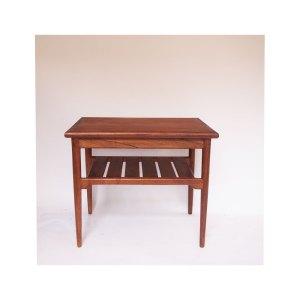 Petite table basse d'appoint scandinave vintage, double plateau #46