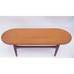 Longue Table basse basse ovale scandinave vintage