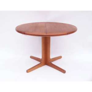 Table ronde scandinave danoise vintage, pied central