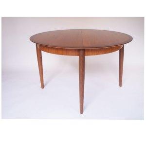 Table de salle à manger ronde, scandinave Danemark vintage