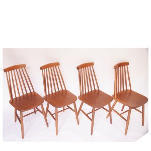 Lot de 2 chaises vintage scandinave, barreaux