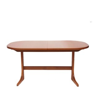 Table ovale McIntosh vintage scandinave, 1 rallonge papillon