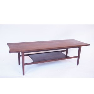 Table basse vintage scandinave double plateau